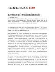 Lecciones del problema limítrofe - Revista Perspectiva
