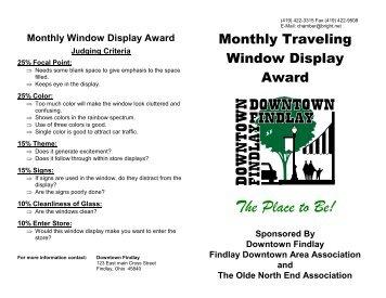 Monthly Window Display Award - Heritage Ohio