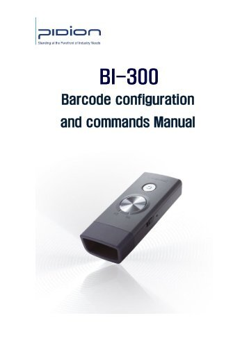 BI300 Barcode Option Manual - Groupe Acces Diffusion