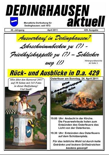 D.a. April 2011 - Dedinghausen