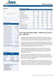 Báo cáo Công ty - Masan Group