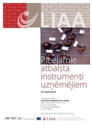 Pieejamie atbalsta instrumenti - LIAA