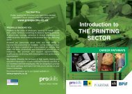 Introduction to THE PRINTING SECTOR - Proskills