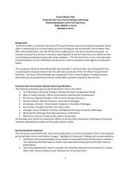 service review subgroup report - Local in Ann Arbor