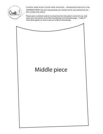 Kathy's free curved burp cloth pattern (PDF)