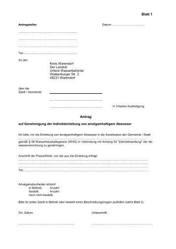 Antrag auf Genehmigung der Indirekteinleitung von ... - OSIRIS