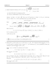 MATH 172 Exam 2 Solutions 2. (15pts) Consider the function f : R 2 ...