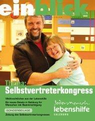 Thema: Selbstvertreterkongress - Lebenshilfe Salzburg