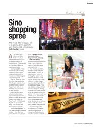Sino shopping spree - UPWARD CURVE