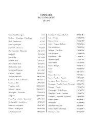 SOMMAIRE DU CATALOGUE N° 374 - Librairie historique Clavreuil