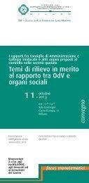Programma del convegno - Ordine dei Dottori Commercialisti e degli ...