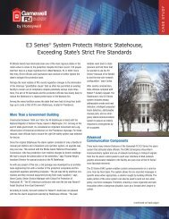 E3 Series® System Protects Historic Statehouse ... - Gamewell-FCI