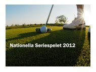 Nationella Seriespelet 2012 - Golf.se