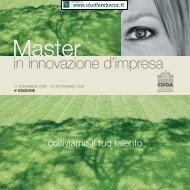Master in innovazione di impresa - Studio Rebecca & Associati