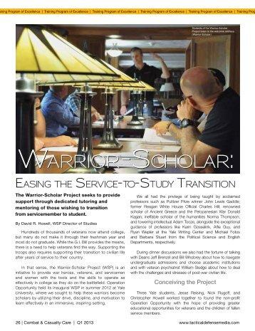 Warrior-scholar: Warrior-scholar: