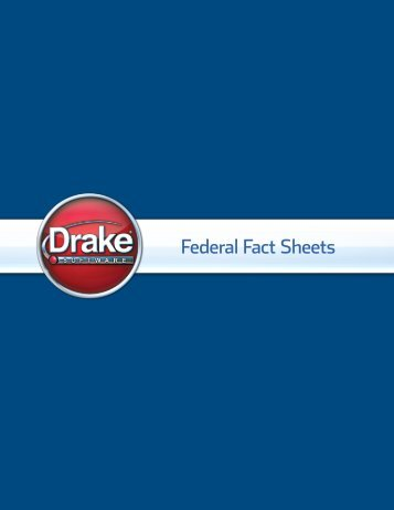 Federal Fact Sheets - Drake Software