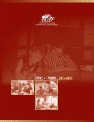 RAPPORT ANNUEL 2005-2006 - acelf