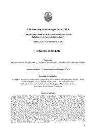 VII Jornadas de Sociología de la UNLP - academia