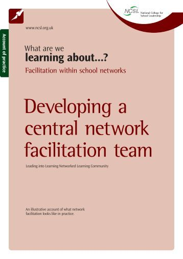 Developing a central network facilitation team.indd - Collection ...