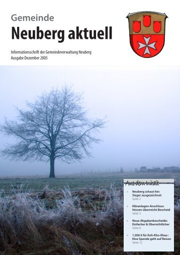 NEUBERG aktuell, Ausgabe 12/2005 - Gemeinde Neuberg