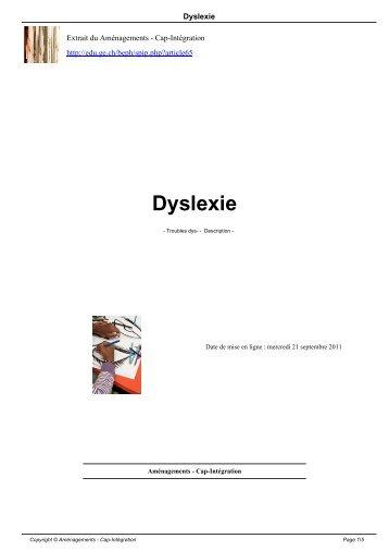 Dyslexie - Ge.ch