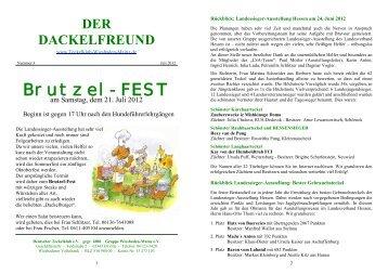 Der Dackelfreund - Nr. 3/2012 - Teckelklub Wiesbaden/ Mainz