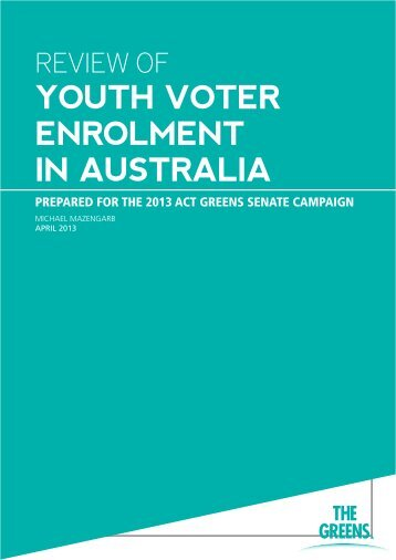 YOUTH VOTER ENROLMENT IN AUSTRALIA