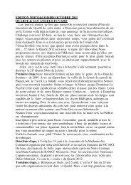 EDITION MOTO&LOISIRS OCTOBRE 2011 QUARTE ... - MotoBalade