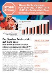 (PDF) Kundgebungszeitung - Lehrerinnen und Lehrer Bern LEBE