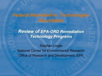 Review of EPA-ORD Remediation Technology Programs - Federal ...