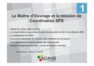 Plan de prévention ou Coordination SPS - Ucanss