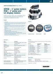 """WM10 – 1"""" pulse meters M10 – 1"""" pulse and LC display meters - Net"""