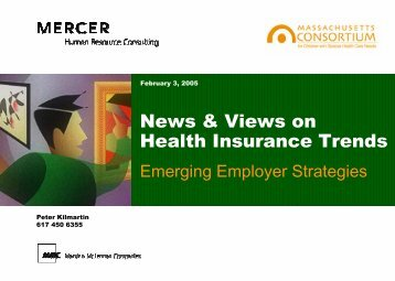Health Insurance Trends: Emerging Employer Strategies