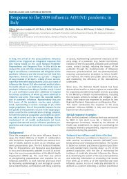Response to the 2009 influenza A(H1N1) - Avian and Pandemic ...