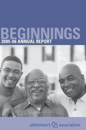 2005-06 ANNUAL REPORT - Alzheimer's Association