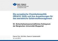 Die europäische Chemikalienpolitik (REACH)
