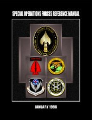 Special Operations Forces Reference Manual - The Air University
