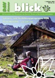 Blickpunkt 36 - Deutscher Alpenverein Sektion Hanau