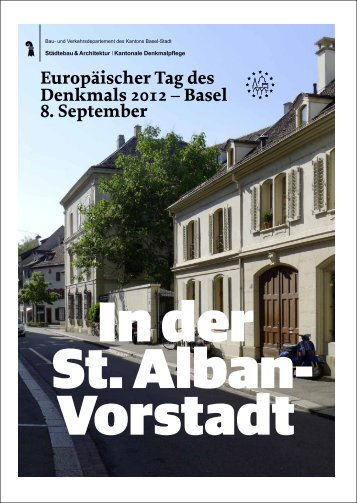 Europäischer Tag des Denkmals 2012 - Denkmalpflege - Basel-Stadt
