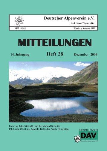 Heft 28-Umschlag.PMD - DAV Sektion Chemnitz