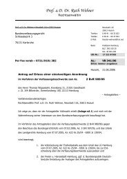 Verfassungsbeschwerde, 21. Juni 2006 - Thomas Wüppesahl