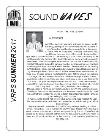 Soundwaves July 2011 - Vintage Radio and Phonograph Society