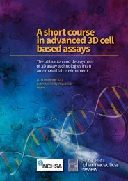 A short course in advanced 3D cell based assays - European ...