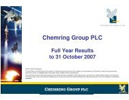 m - Chemring Group PLC