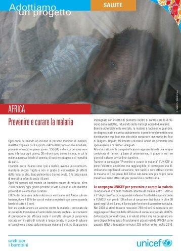 Prevenire e curare la malaria AFRICA - Unicef