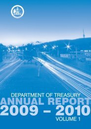 ACT Department of Treasury 2009-10 Annual Report