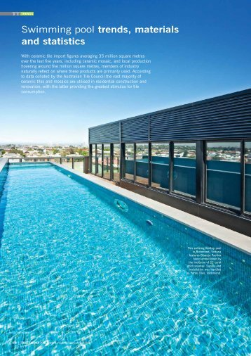 Swimming pool trends, materials and statistics - Infotile