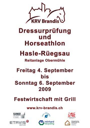 Dressurprüfung und Horseathlon Hasle-Rüegsau - ah,ja!