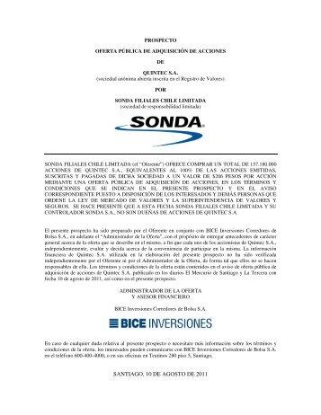 Descargar PROSPECTO RECTIFICADO DE OFERTA ... - Sonda