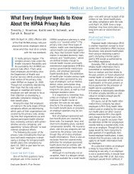 What Every Employer Needs to Know About the HIPAA Privacy Rules